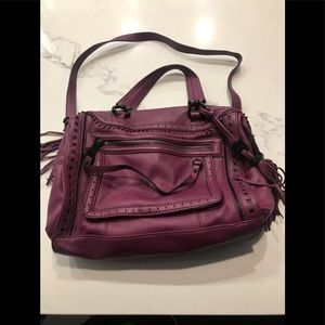 Aimee Kestenberg Purple Eggplant Leather Handbag